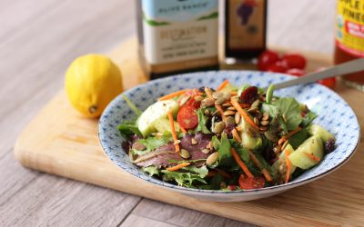 Fall Salad Recipe with Maple Dijon Vinaigrette