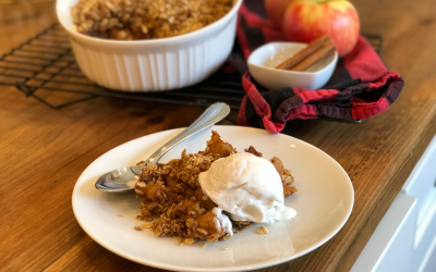 Skinny Apple Crisp Recipe (vegan, gf)